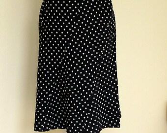 Vintage Jaeger Skirt Flirty Blue Polka Dot UK size 12