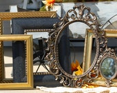 Picture Frames - Set Of 6 Ornate Frames - Frame Collection - Shabby Chic Decor