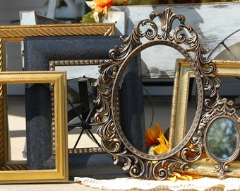 Set Of Six Gallery Wall Picture Frames - Vintage Collection - Ornate - Wall Decor - Custom - PICTURE FRAME SET