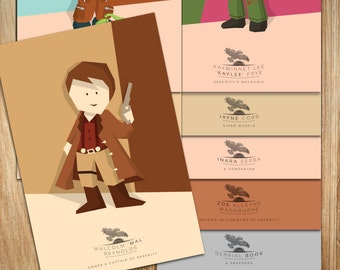 Firefly - All 9 Characters - POSTCARD SIZE - 6 x 4 inches