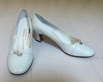 1960s Joseph Larose Faux Alligator Heels Vintage Shoes