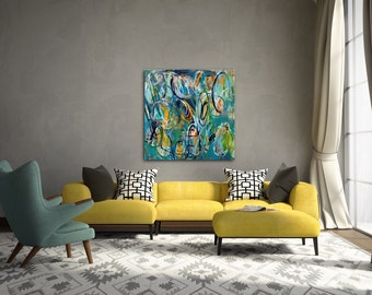 Large Abstract modern Painting/Art