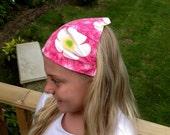Hair bandana sunshade - elasticated & double sided - range of fabrics