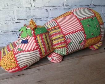 Stuffed Animal Hippopotamus Vintage Toy