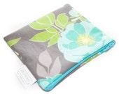 Snack Bag - Sandwich Bag - Reusable - Quart Gallon - Zippered or Snap - Waterproof - Napkin - Pad Wrapper - Favor - Floral Cottage Garden