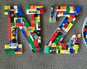 Handmade one of a kind toy brick mosiac