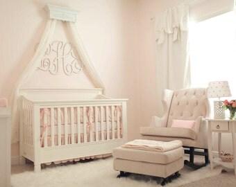 Crib Crown, Bed Crown Canopy, Baby Girl Nursery, Girl Bedroom Decor