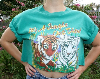 90s Crop Tshirt // Its a Jungle Out There