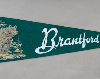 Vintage 'Brantford, Ont. Canada' Ontario Pennant