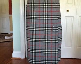 Tartan Plaid 100% Wool Pleated Kilt Skirt Made in Scotland
