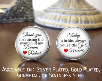 SALE! Father of the Bride Cufflinks - Personalized Cufflinks - Father of the Bride - Father of the Bride Cufflinks