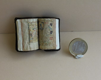 Dollhouse miniature medieval open book