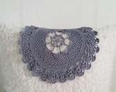 Gray Doily - Cotton Crochet Ecofriendly Lace Style Doily - Boho Chic Decor