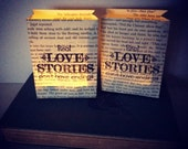 Book Luminaries, Real Love Stories Don't Have Endings, Book Wedding, Book Decor, Love, Book Themed, Library Wedding, Happily Ever After