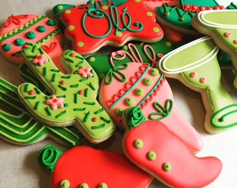 Fiesta Decorated Sugar Cookies-1 dozen