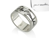 Signature Ring- Handwriting Ring, Silver Ring, Word Ring, Initial Ring, Name Ring