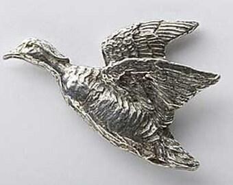Wood Duck Flying - Lapel Pin/Brooch - B008,BC008,BP008