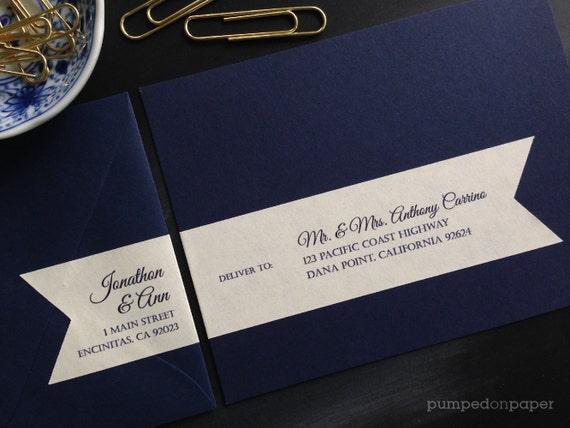 Wedding Invitation Mailing Labels: Address Labels For Wedding Invitations Personalized Return