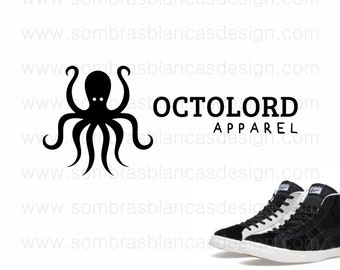 OOAK Premade Logo Design - Black Octopus - Perfect for a graphic t-shirts brand or a sneakers shop