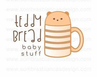 OOAK Premade Logo Design - Teddy Mug - Perfect for a baby accessories shop or a handmade toys brand