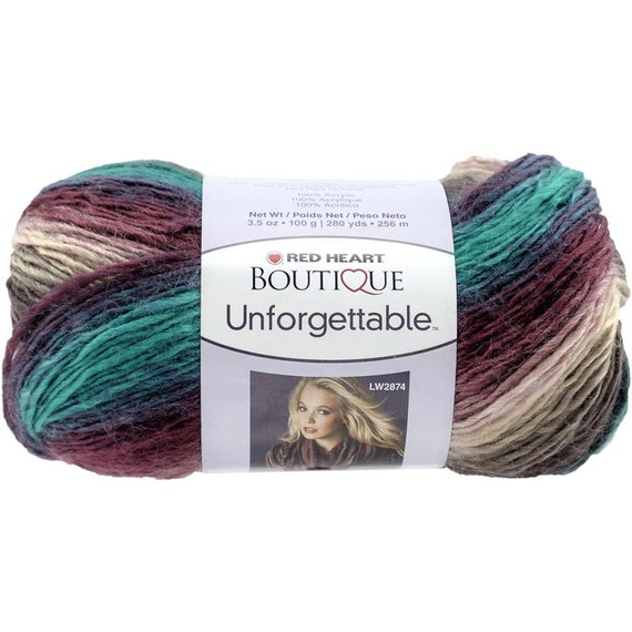 Knitting Patterns Using Red Heart Boutique Unforgettable Yarn : Red Heart Boutique Unforgettable Yarn in by ...
