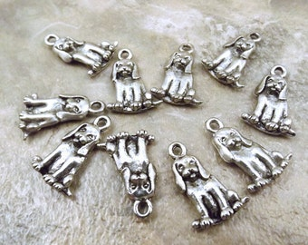 10 Pewter Beagle Charms - 5502