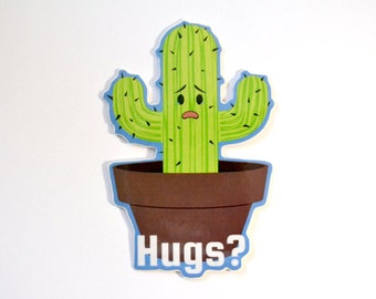Cactus Hugs Vinyl Sticker