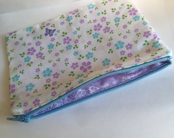 Floral lined purse