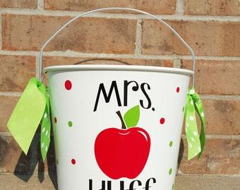 Personalized Teacher Bucket / Gift Basket 10qt