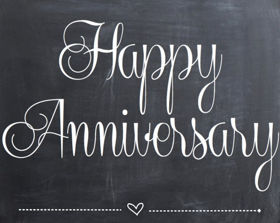 happy anniversary photo prop chalkboard printable sign for