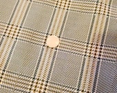 Polyester Double Knit Green and Yellow Glen Plaid for Suits, Pants, Skirts Mod Retro Mad Men