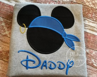 Boy Mouse Custom embroidered Disney Vacation Pirate Shirts for the Family! 754