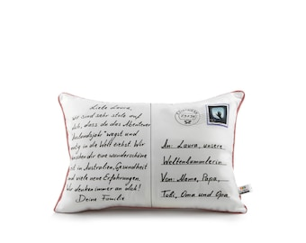 postcard pillow® farewell & lettered by us