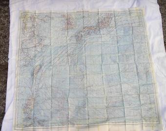 1945 Japan and South China Sea cloth map