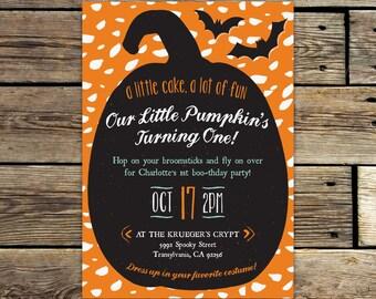 Halloween Birthday Costume Party Invitation Printable – First Birthday Invite with Photo