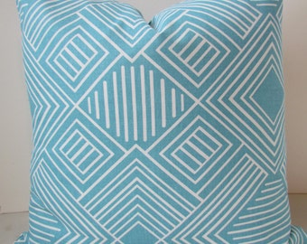 Turquoise PILLOW Covers Turqouise Throw Pillows Aqua Blue Decorative Pillow Solid Blue Throw pillow Covers 16 18 20x20 Nautical Yacht Club