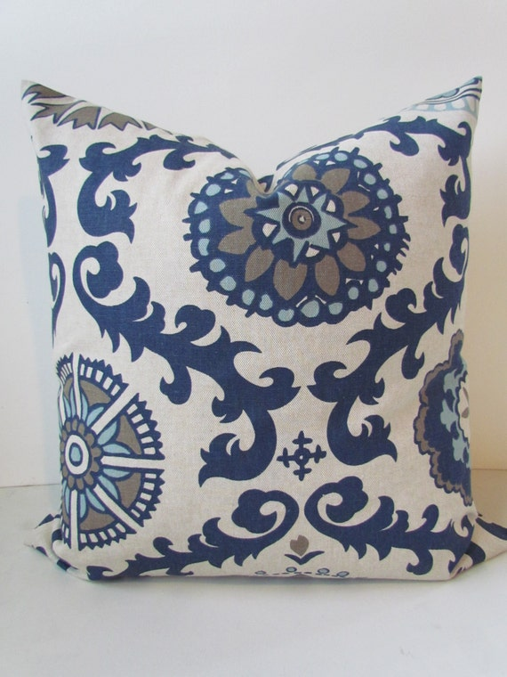 Throw Pillows With Navy Blue : NAVY PILLOWS Navy Blue Throw Pillow Covers Dark Blue tan