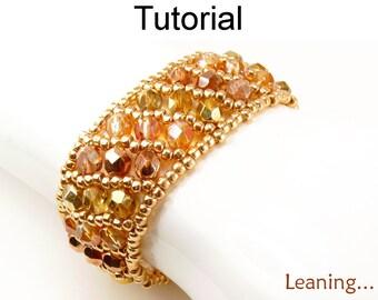 Beading Tutorial Pattern Bracelet - Flat Russian Spiral Stitch - Simple Bead Patterns - Leaning... #5006