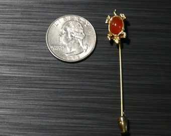 FREE SHIPPING!  Vintage Turtle Scarf Pin