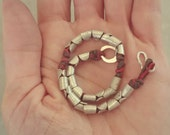Unisex silver bracelet  handmade one of a kind , Silver with wax strings