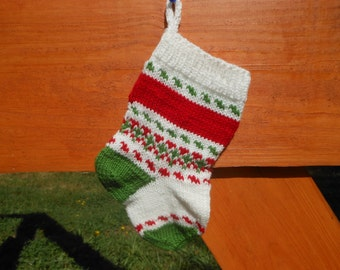 Personalized Small Christmas Stocking Hand Knitted Christmas Gift Christmas Decoration