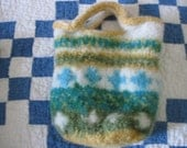 Felted bag from Navajo Churro wool
