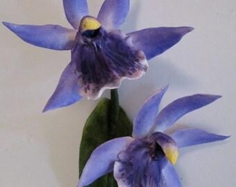 sugar orchid gum paste cake topper zygopetalum