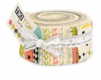 Moda Jelly Roll Tiki Tok designed by Jenn Ski