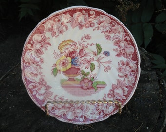 Saucers Royal Doulton Pomeroy.Soucoupe pink bouquet of flower.