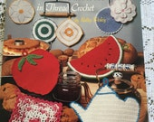 Grandmother's Potholders In Thread Crochet Kathy Wesley Nostalgic Collection Strawberry Teapot Watermelon