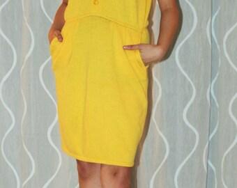 ST. John By Marie Gray- Yellow Santana Knit Dress