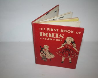 "Vintage 1954 ""The First Book of Dolls"" by Helen Hoke!  HC / Illustrated!"
