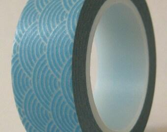"""Washi Tape """"Nami"""" (Wave) 10 Meters"""