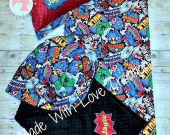 Nap Mat Cover Blanket & Pillow case Set-Nap Mats-Nap Mat Covers-Nap Mat Sets-Kinder Mat Covers-Nap Sets-Blankets-Superhero Nap Mat Set